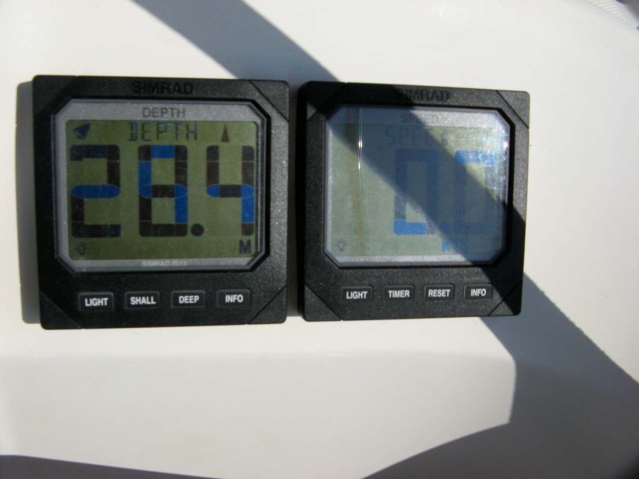 As we sail towards Kalymnos, the water depth is just over 90 feet.