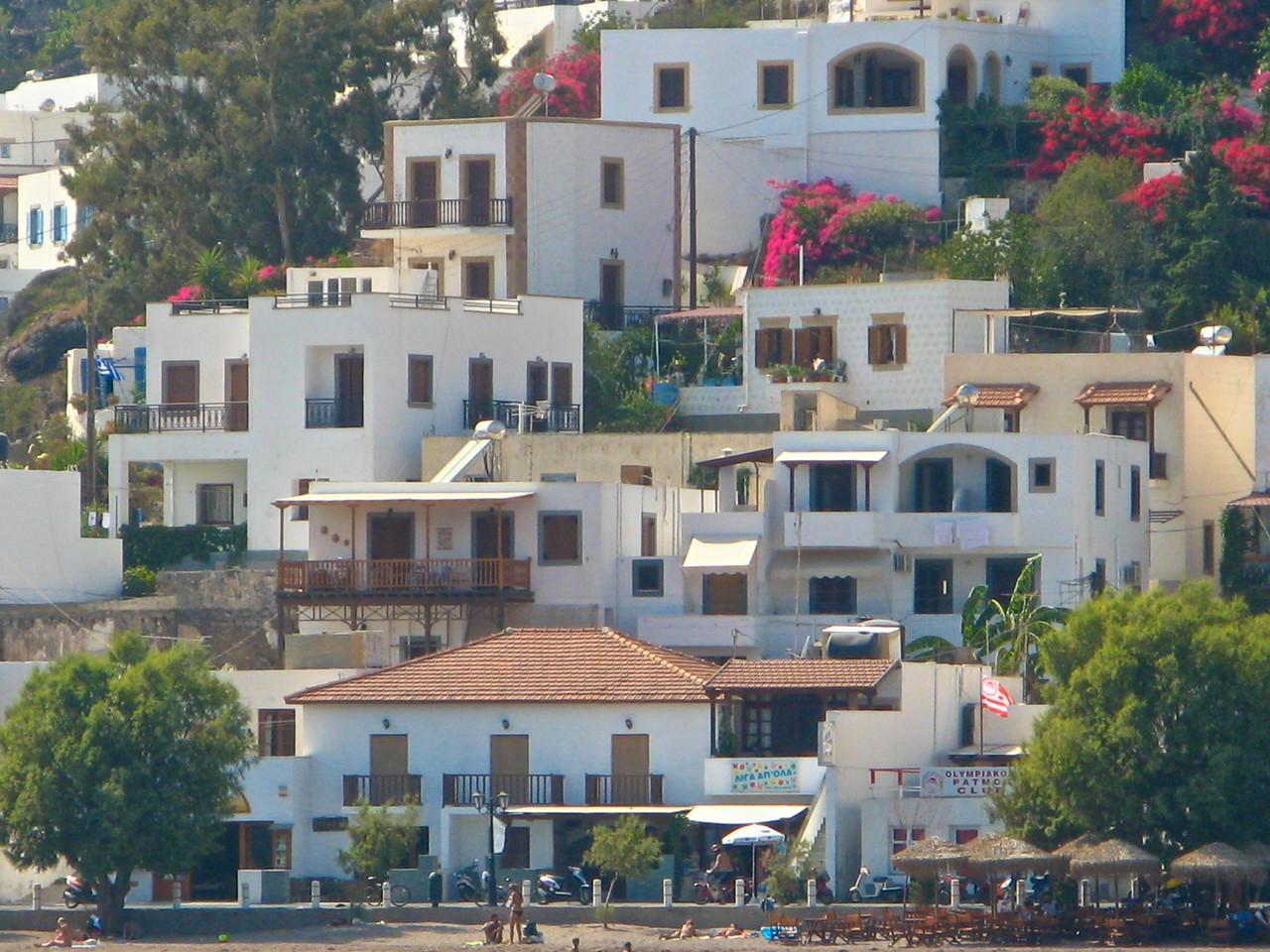 Around 3000 people live on Patmos year round.
