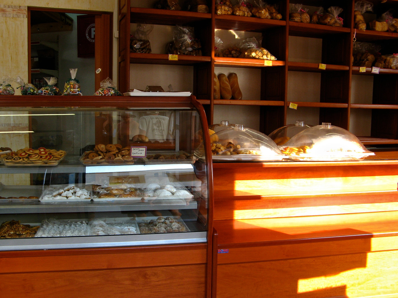 Here's a look inside a small bakery in town.