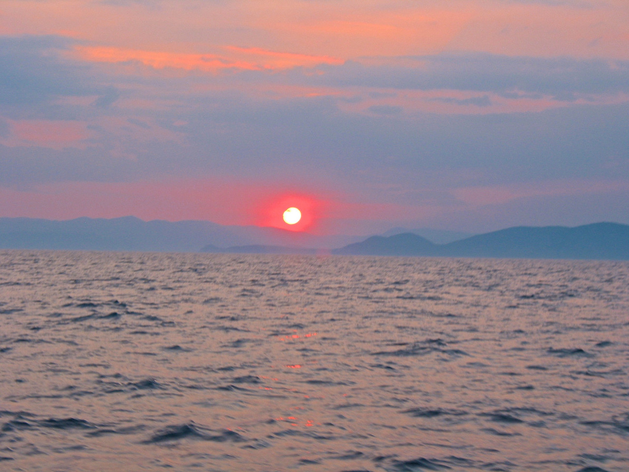 Sunset over the Aegean.