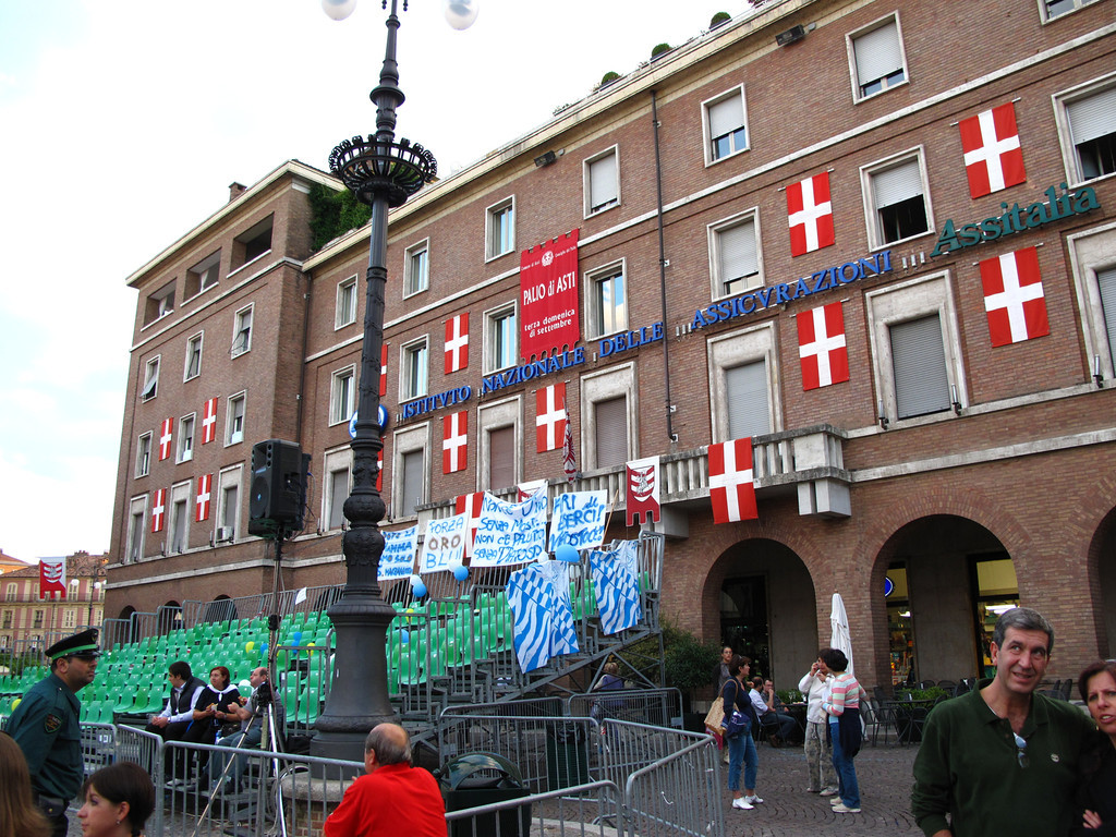 The Palio degli Sbandieratori or Flag Throwing Competition is part of the week long celebration.