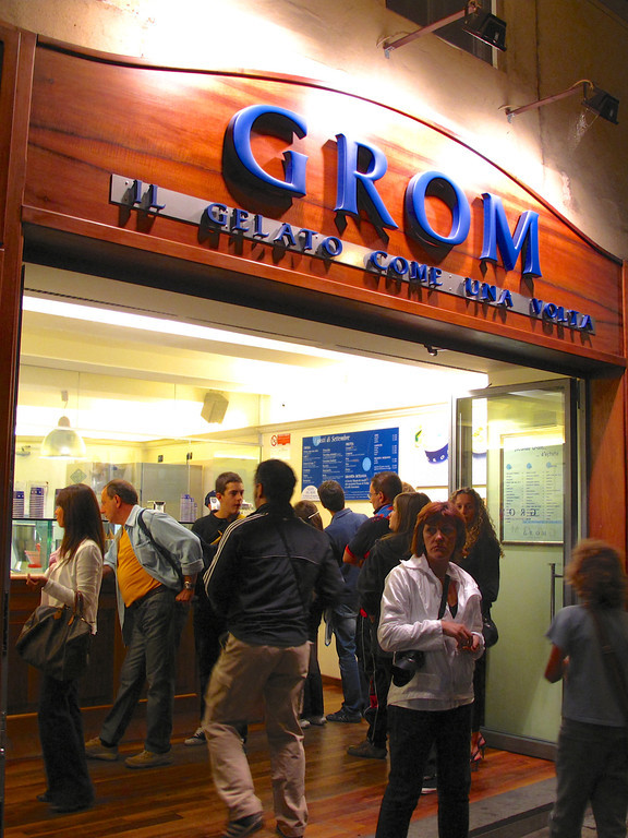 Grom Gelato started in Turin in 2003 and now has locations throughout Italy including Paris and New York.
