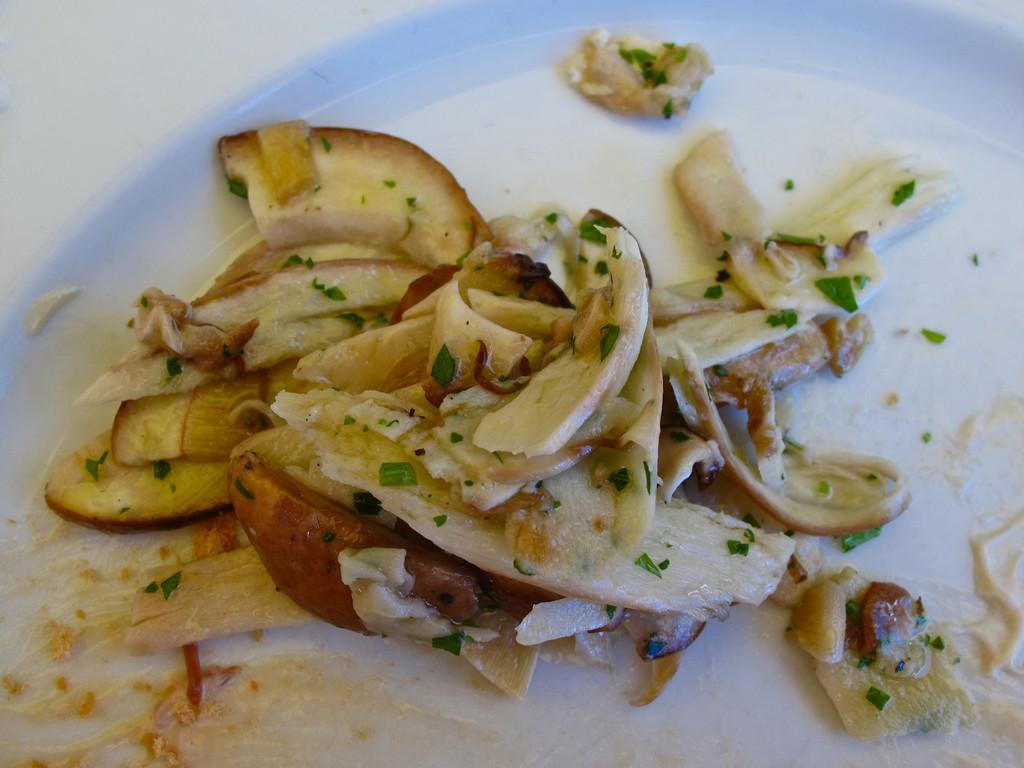Next up is a marinated raw mushroom salad.