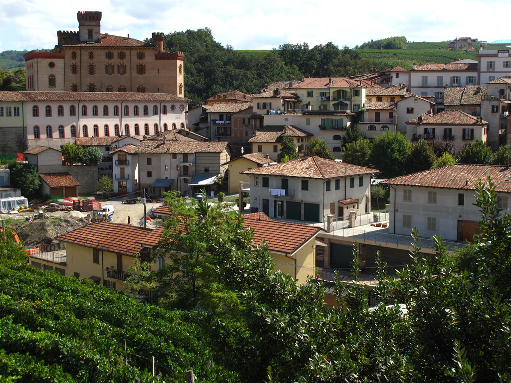 Here's a view of Barolo from a hill nearby.