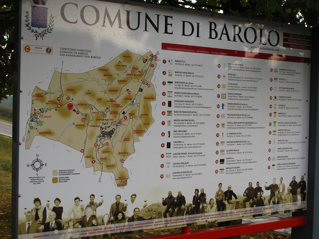 Barolo is at the heart of the Piemonte region.  It's a town of 750   It was settled during the Middle Ages.