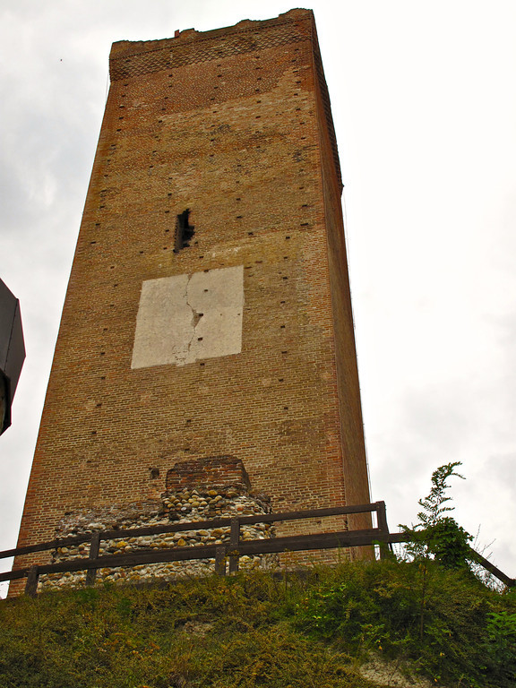 The tower is over 7ft thick at the base and is actually filled with earth halfway to the top.  At one time, it is believed to have been part of a network of towers along the river as part of the Roman's fortification of the area.