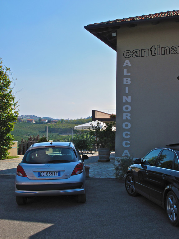 Located on the other end of town in Barbaresco, is the Albino Rocco winery.  It was our first winery visit on this return trip to Italy.
