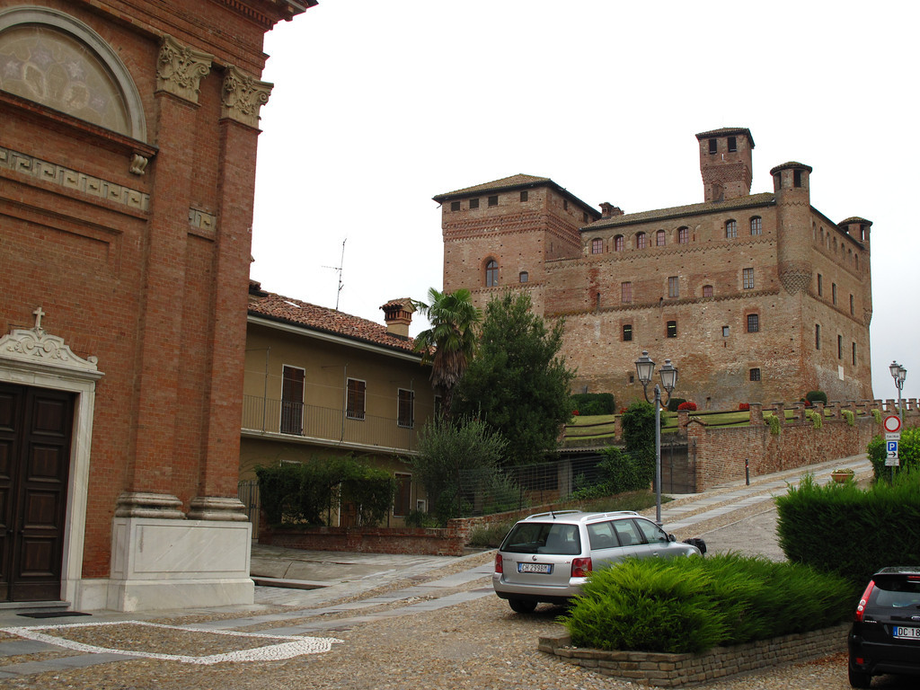 The Castle of Grizane Cavour dates to 1000AD.  It was built in a strategic position with the oldest part of the castle to the north.  Later in the century, more buildings were added and it became a residence.