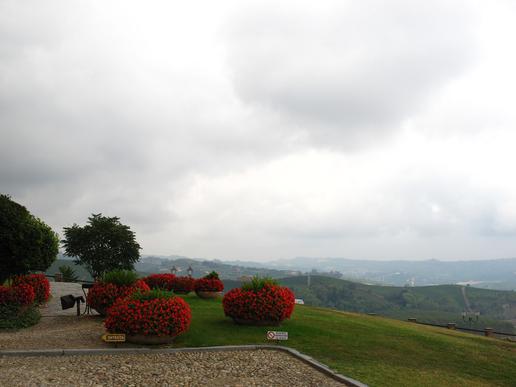 From the grounds of the castle, you can look across the valley.