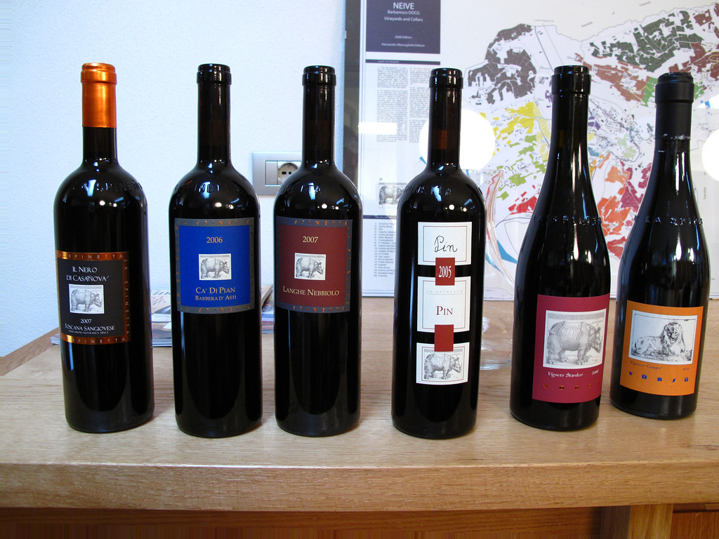 These are just some of the wines we're trying today.