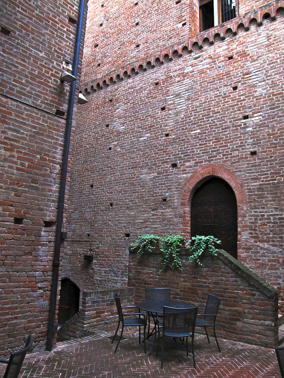As the castle expanded over time, small courtyards were created between the old and new buildings.