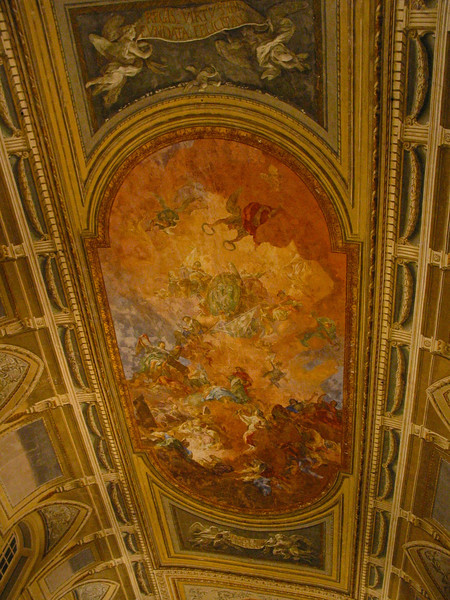 Painting on the ceiling in one part of the museum.