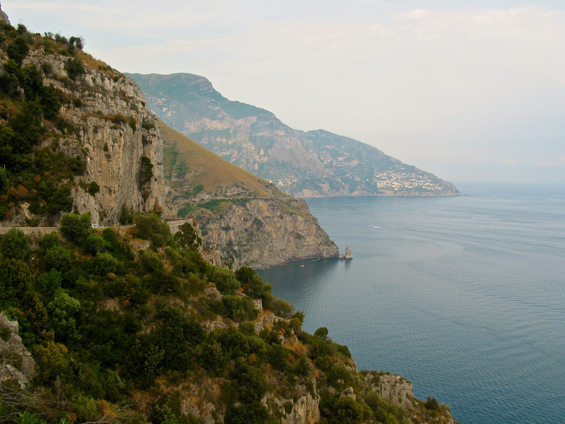 As you go south of Naples, you'll wind along the coast through Sorrento and down to the Amalfi.