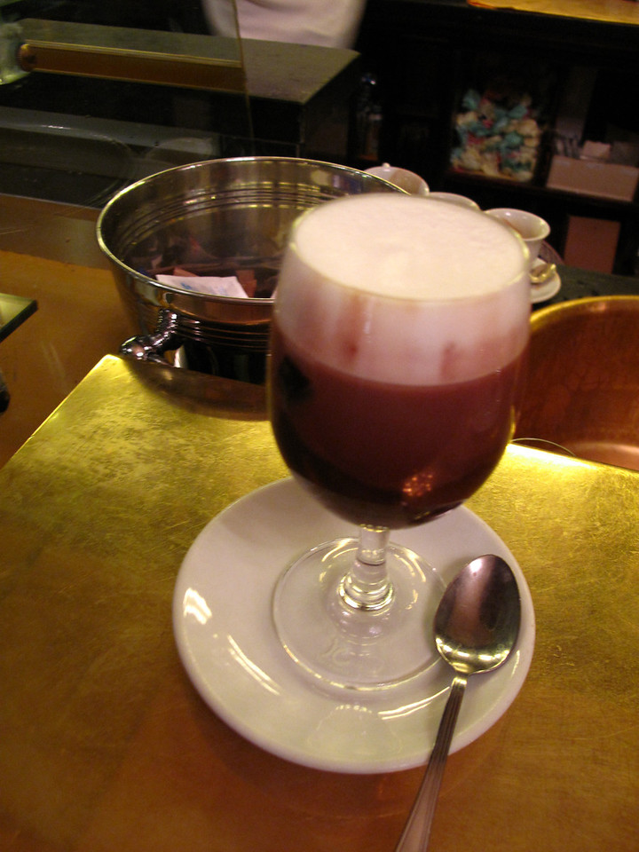 Here you can get the best Bicerin.  It is a traditional hot drink native to Turin made of espresso, drinking chocolate and whole milk served in layers in a small rounded glass. It was believe to have been invented in 1704.  It's a must try.