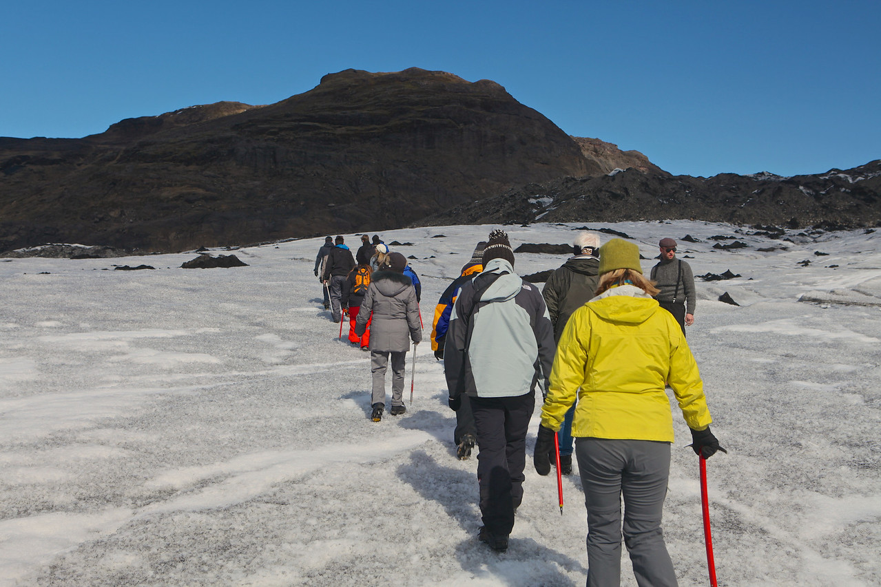 The hike is relatively easy and is a great way to see a glacier close up.