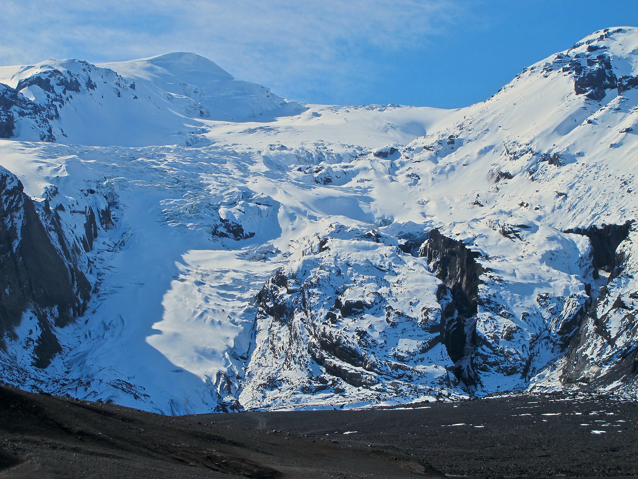 Mýrdalsjökull is an exceedingly wet location, receiving more than 10 metres of precipitation annually.[