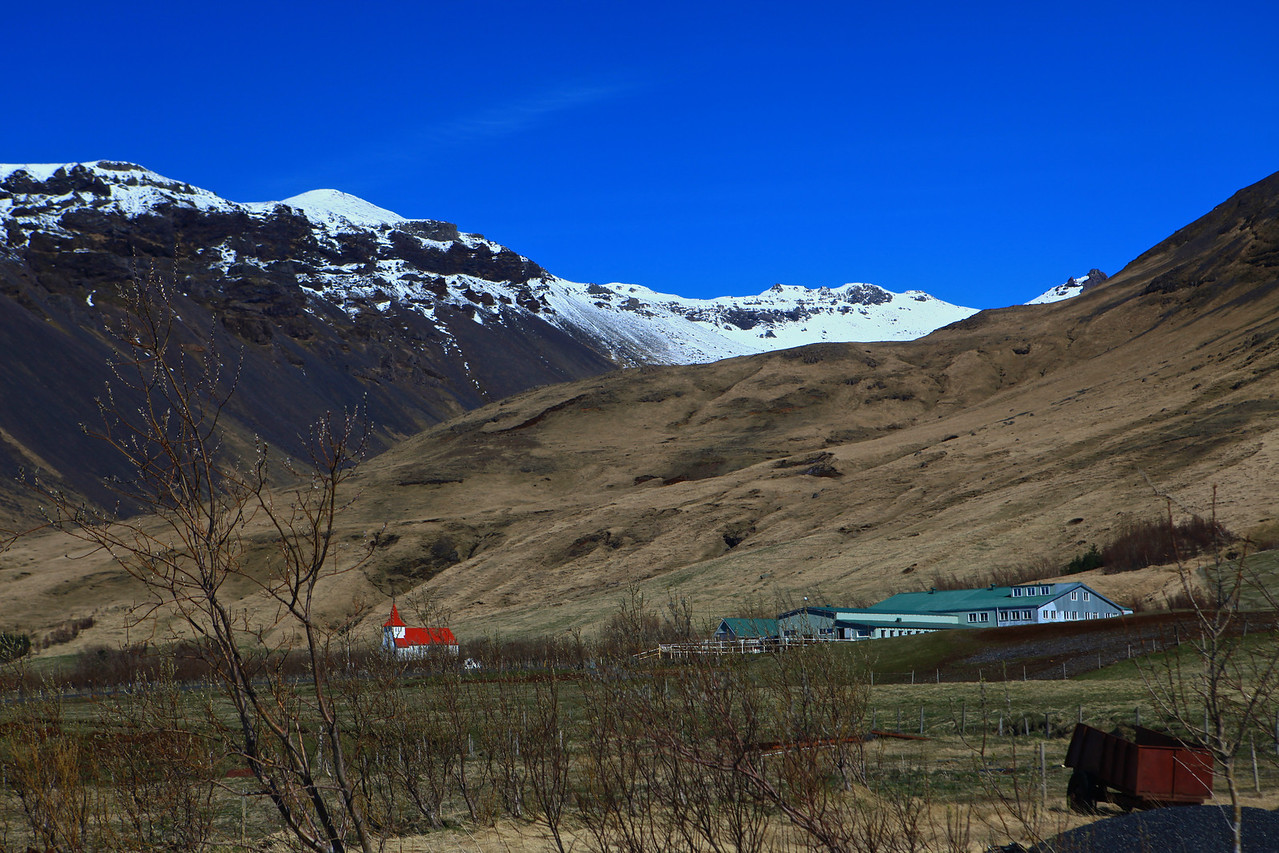 Our next stop is on farm Moldnúpur at the foot of the Eyjafjallajökull Glacier.