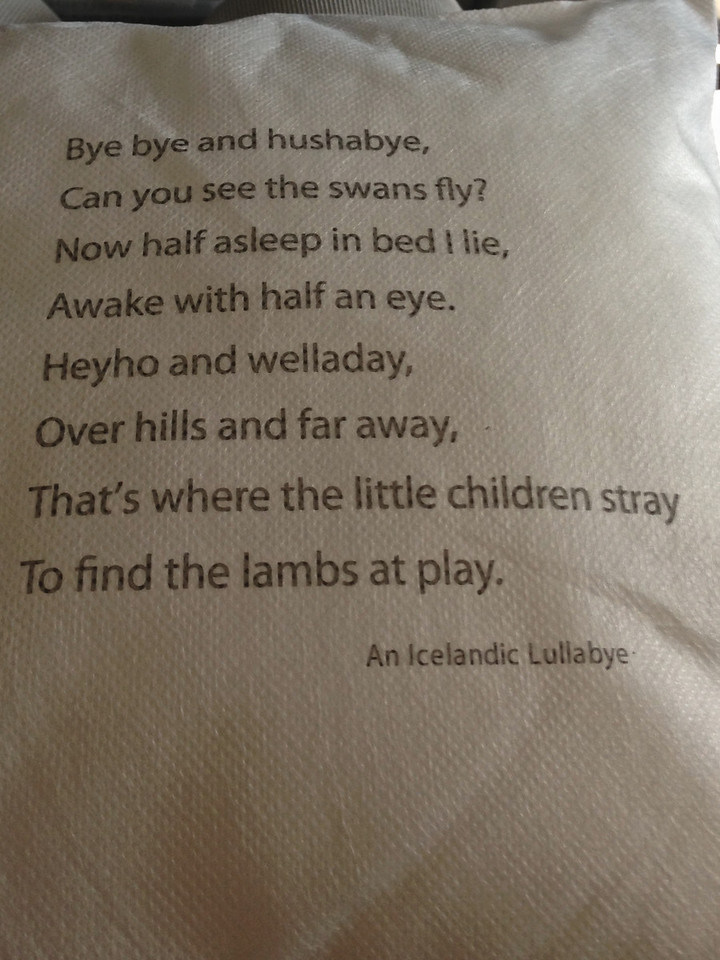 Service on Icelandair is actually pretty good, including poems on pillows.