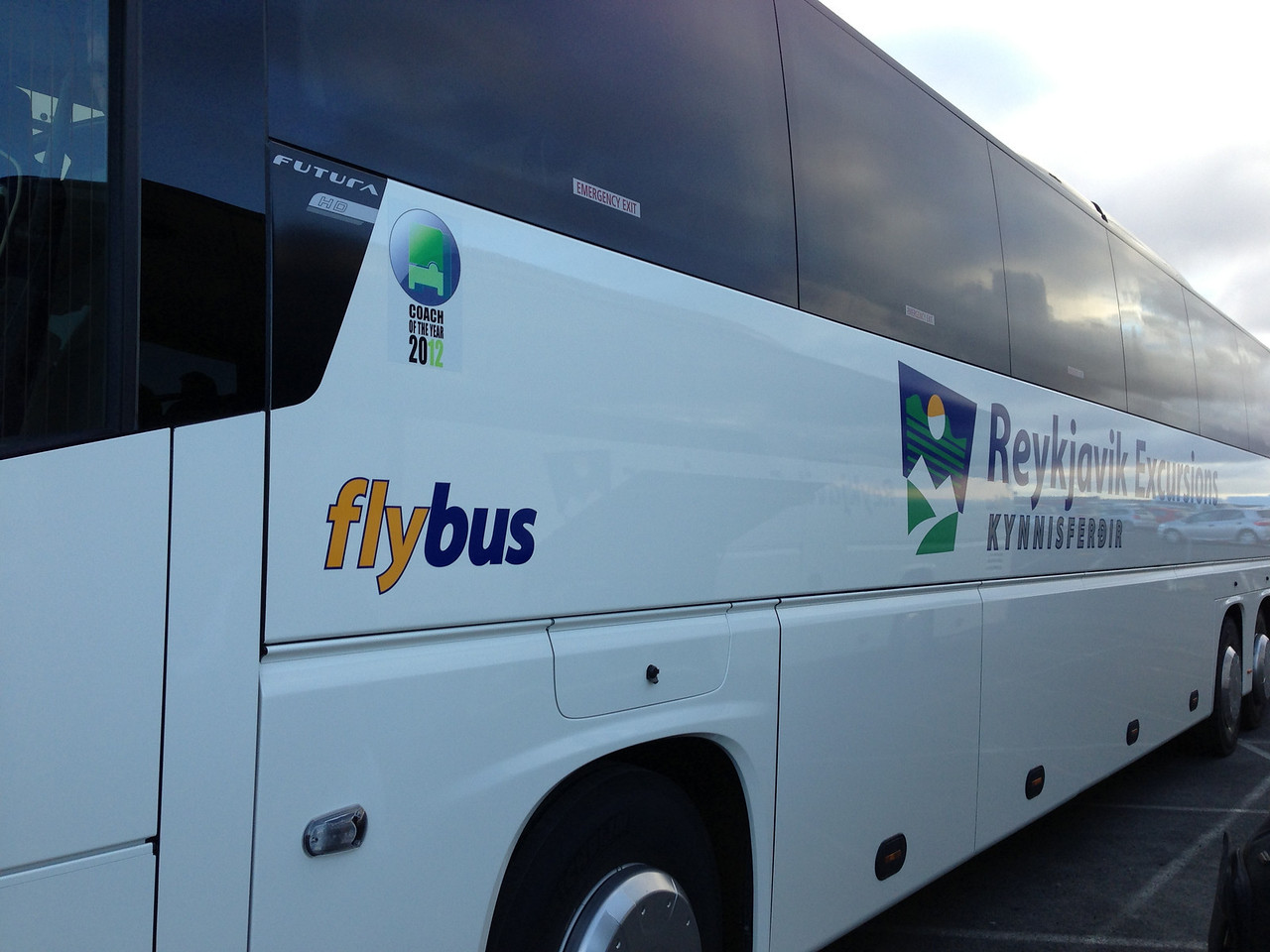 Flybus is the most inexpensive way to travel into Reykjavik.