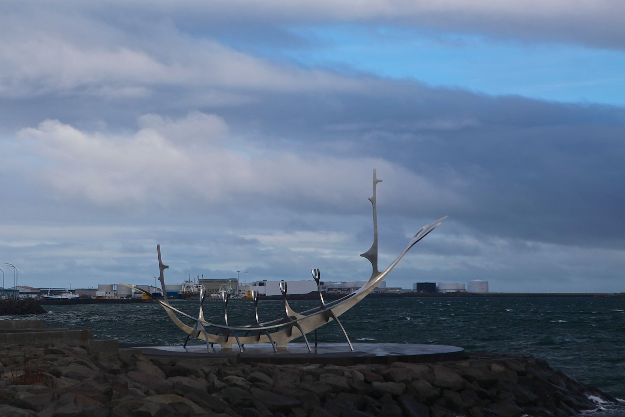 Sun Voyager is a sculpture by Jón Gunnar Árnason which is a dreamboat, an ode to the sun. Intrinsically, it contains within itself the promise of undiscovered territory, a dream of hope, progress and freedom. <br /> <br /> The sculpture is located by Sæbraut, by the sea in the centre of Reykjavík, Iceland.