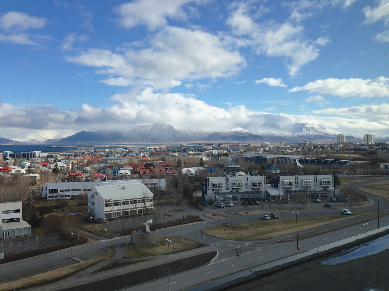 You can see many of the large geological formations of Iceland from the upper floor lobbies of the hotel.