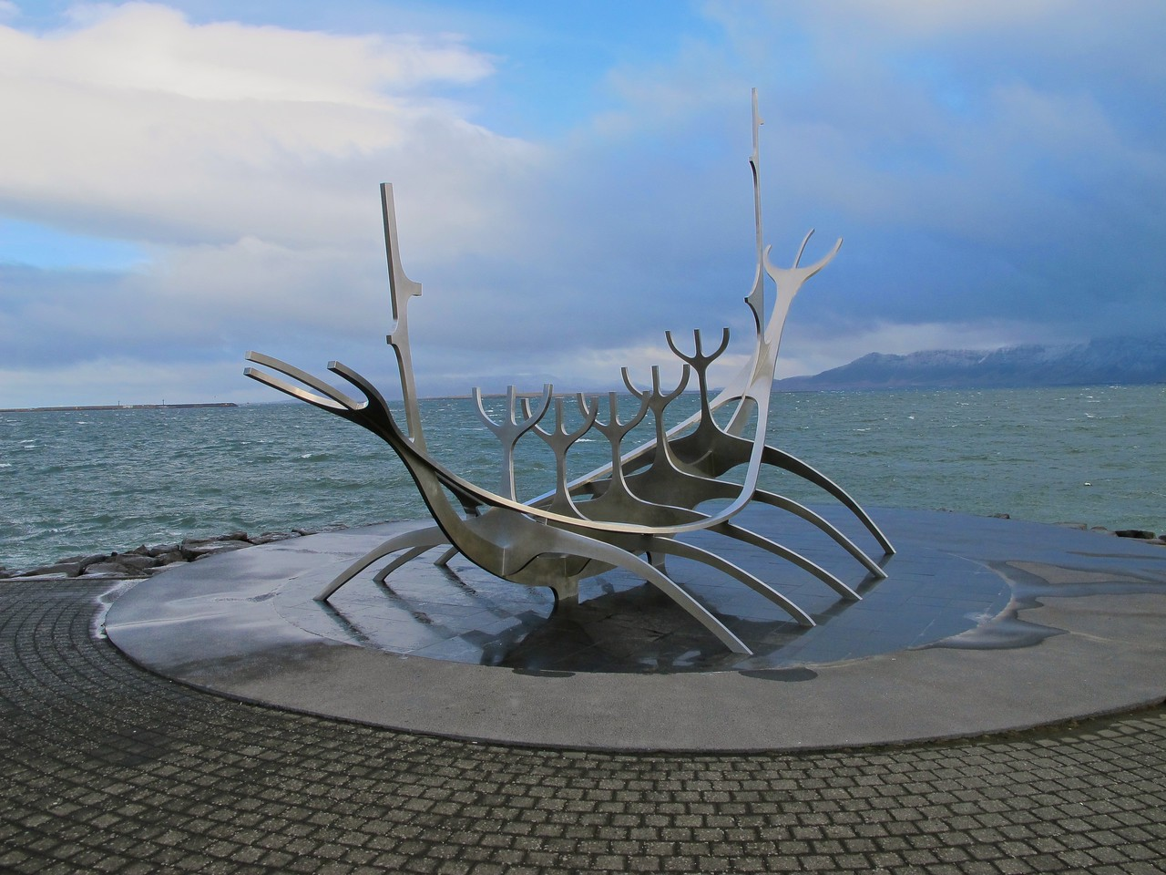 The sculpture was the winner of an outdoor sculpture competition to commemorate the 200th anniversary of the city of Reykjavík.