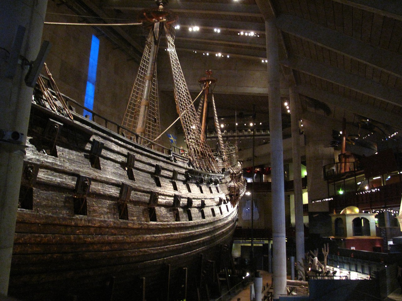 The museum was built around the dry dock and opened in 1990.