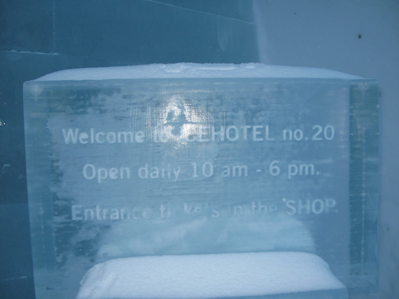 2010 is the 20th anniversary of the Icehotel.  The beginning of the hotel actually starts the previous Spring, when crystal clear iceblocks are harvested from the Torne river nearby and put into storage for the summer.