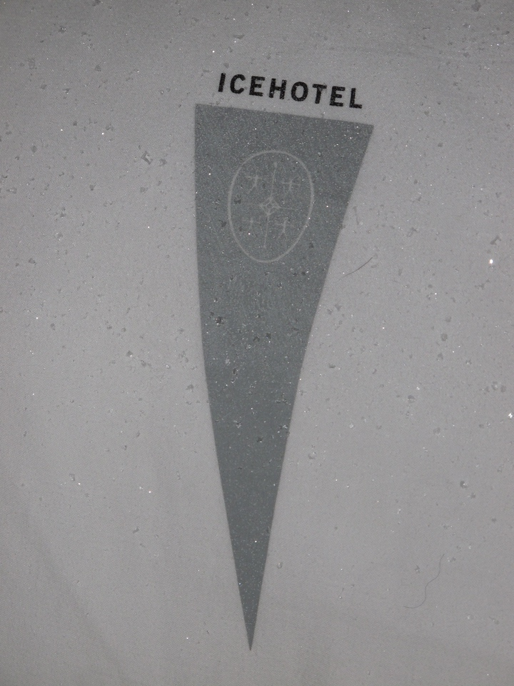 Even your official Ice Hotel pillow can get snow and ice on it in your room.