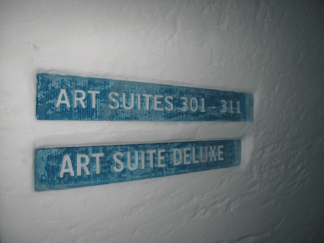 The Art Suites are the most expensive cold accommodation at the Ice Hotel.  Each year, hundreds of artists from around the world compete to be one of 20 chosen who will each get to design a single room.