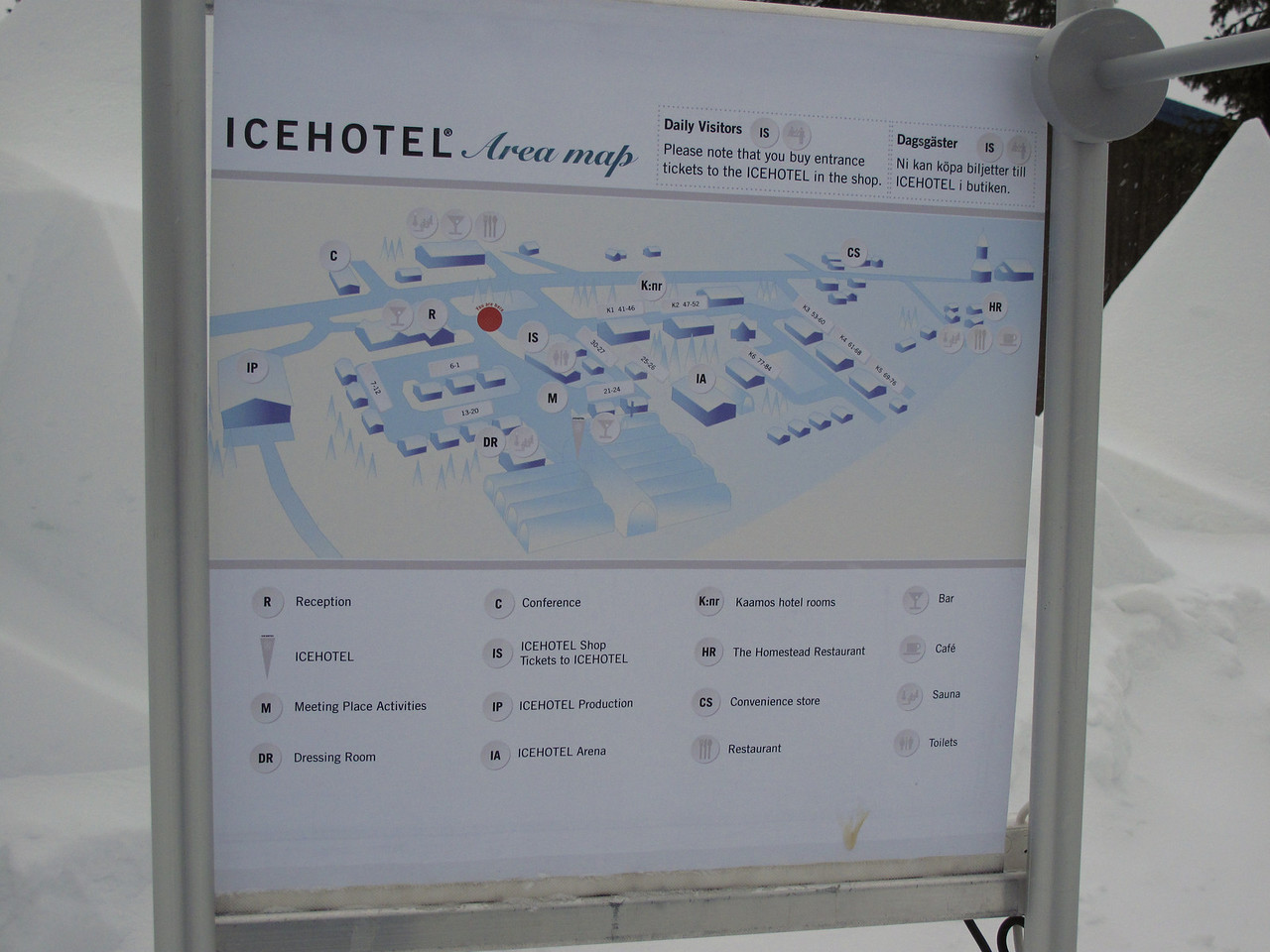 After we finish dog sledding, we're off to the Icehotel, where we'll be spending the night.