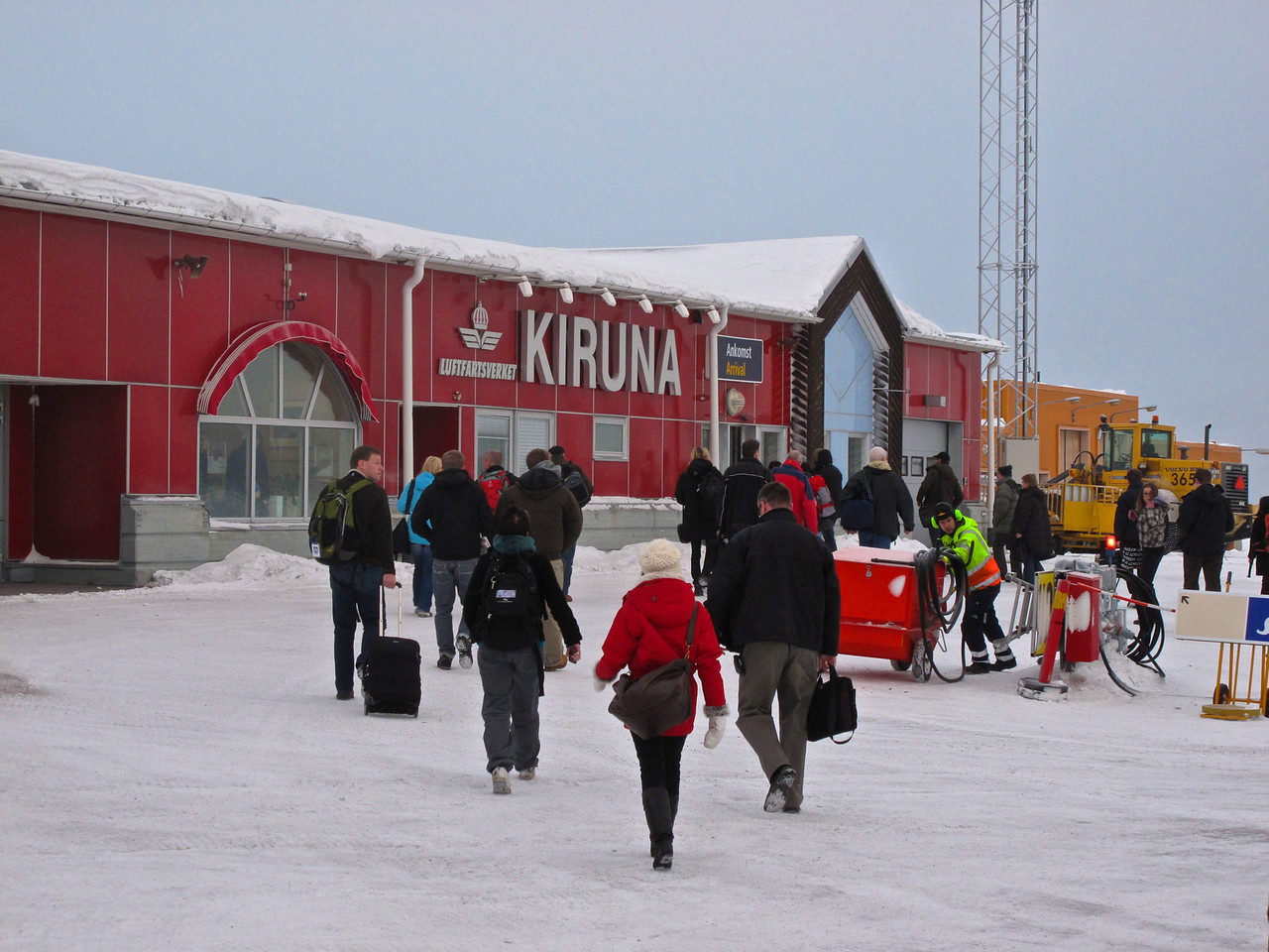 Kiruna's largest employer is the world's largest iron ore mine.  It employs over 4000 people in the area.
