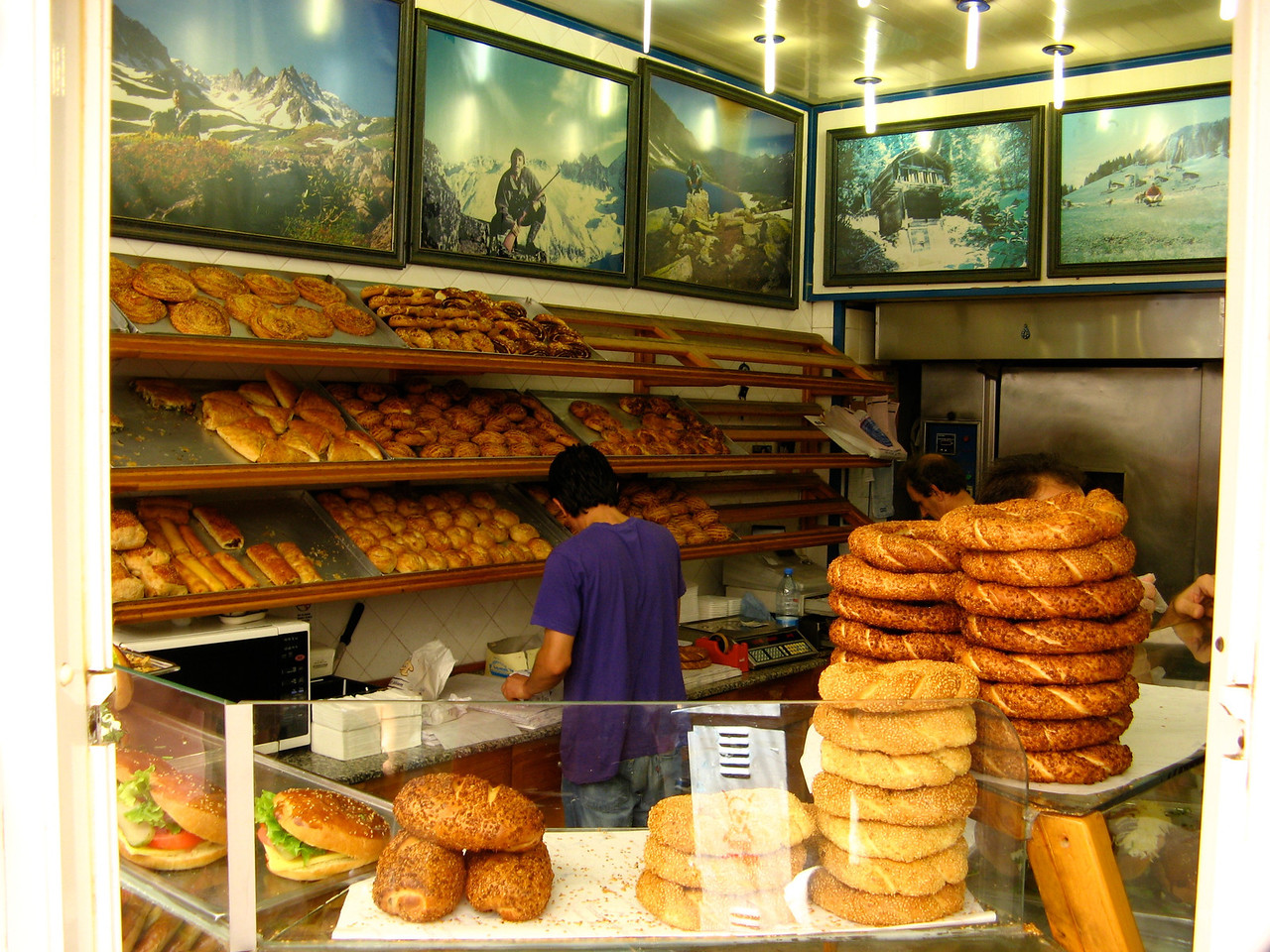 After lunch, you can always visit a bakery right down the street.