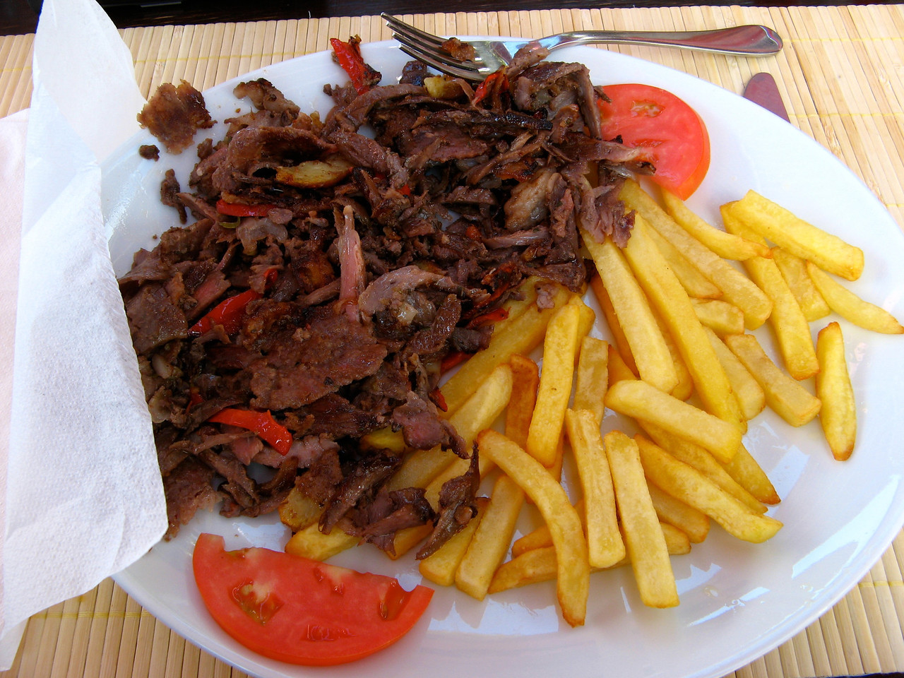 And Le Roka had one of the best meals of the trip...doner kebabs...
