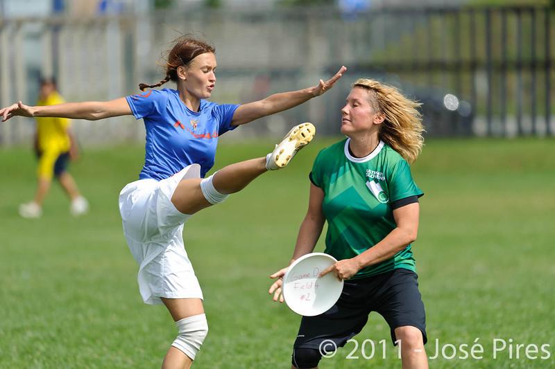 EUC2011, Maribor Slovenia.<br /> Russia vs Slovenia. Mixed Division.<br /> PhotoID : 2011-08-01-0293