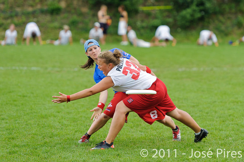EUC2011, Maribor Slovenia.<br /> France vs Poland. Quarter-final. Mixed Division<br /> PhotoId :2011-08-04-0405