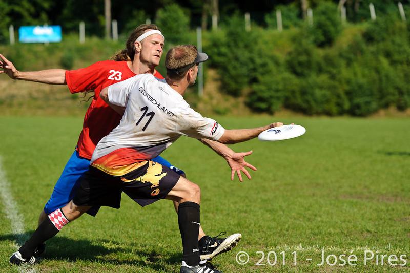 EUC2011, Maribor Slovenia.<br /> Great Britain vs Germany. Semi-Final. Master Division<br /> PhotoId :2011-08-03-1027