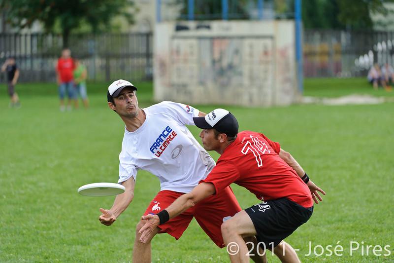 EUC2011, Maribor Slovenia.<br /> France vs Switzerland. Master Division.<br /> PhotoID : 2011-07-31-0843