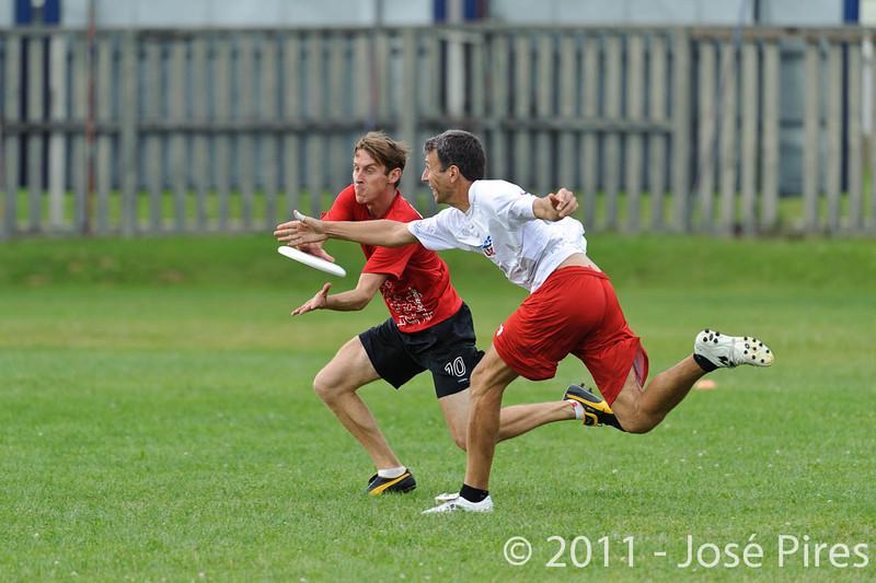 EUC2011, Maribor Slovenia.<br /> France vs Switzerland. Master Division.<br /> PhotoID : 2011-07-31-0839