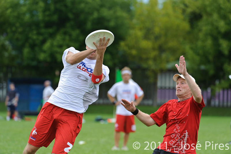 EUC2011, Maribor Slovenia.<br /> France vs Switzerland. Master Division.<br /> PhotoID : 2011-07-31-0731