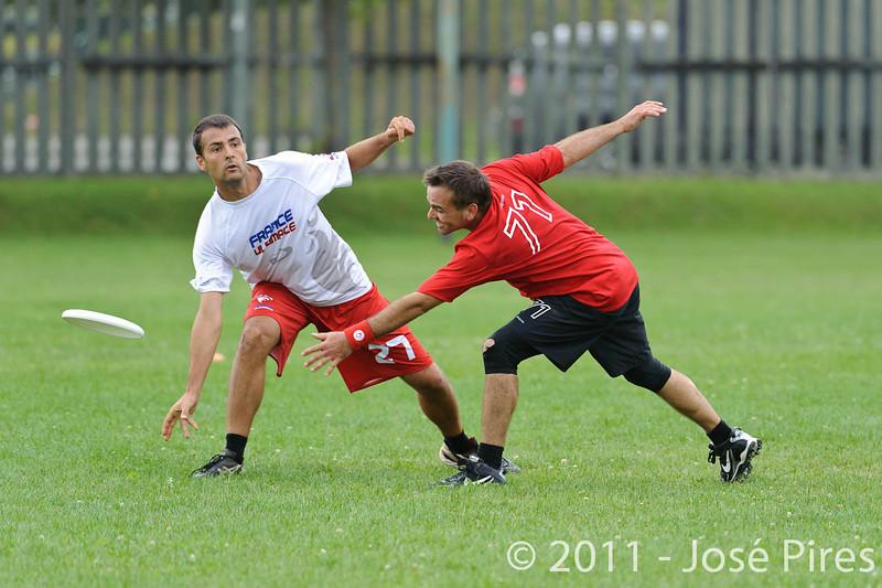 EUC2011, Maribor Slovenia.<br /> France vs Switzerland. Master Division.<br /> PhotoID : 2011-07-31-0740