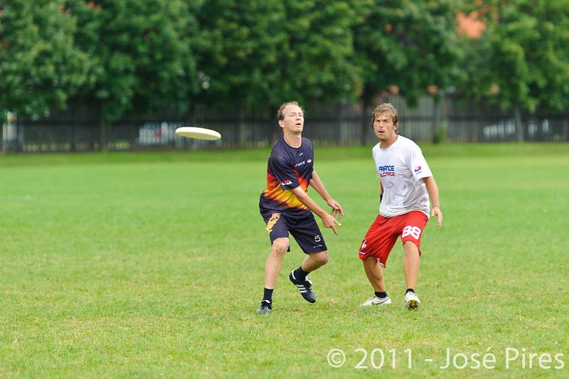 EUC2011, Maribor Slovenia.<br /> France vs Germany. 3rd Place. Master Division<br /> PhotoId :2011-08-04-0502