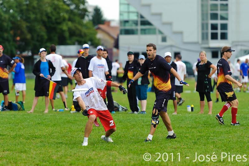 EUC2011, Maribor Slovenia.<br /> France vs Germany. 3rd Place. Master Division<br /> PhotoId :2011-08-04-0551