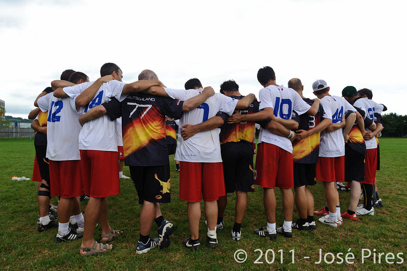 EUC2011, Maribor Slovenia.<br /> France vs Germany. 3rd Place. Master Division<br /> PhotoId :2011-08-04-0704