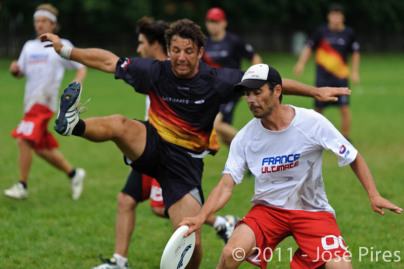 EUC2011, Maribor Slovenia.<br /> France vs Germany. 3rd Place. Master Division<br /> PhotoId :2011-08-04-0601
