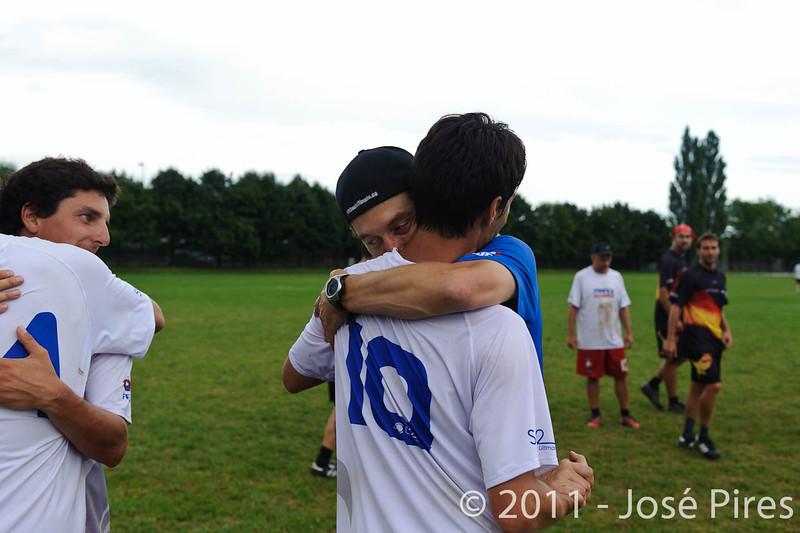 EUC2011, Maribor Slovenia.<br /> France vs Germany. 3rd Place. Master Division<br /> PhotoId :2011-08-04-0696