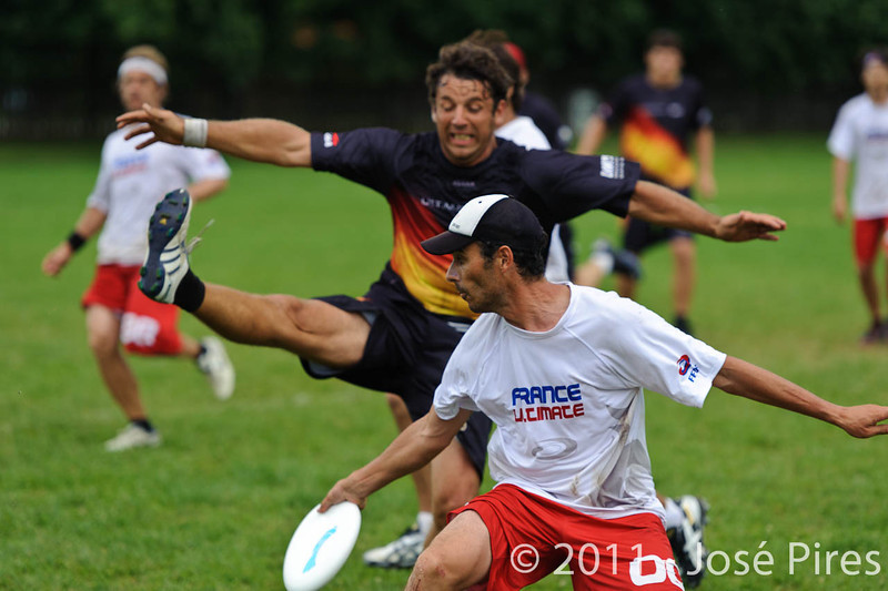 EUC2011, Maribor Slovenia.<br /> France vs Germany. 3rd Place. Master Division<br /> PhotoId :2011-08-04-0600