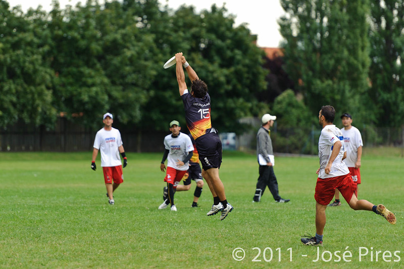 EUC2011, Maribor Slovenia.<br /> France vs Germany. 3rd Place. Master Division<br /> PhotoId :2011-08-04-0543