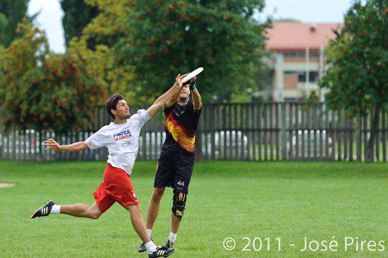 EUC2011, Maribor Slovenia.<br /> France vs Germany. 3rd Place. Master Division<br /> PhotoId :2011-08-04-0546