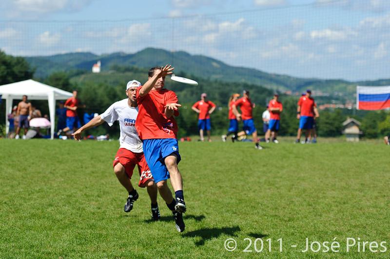 EUC2011, Maribor Slovenia.<br /> France vs Great Britain. Master Division.<br /> PhotoID : 2011-08-02-0712